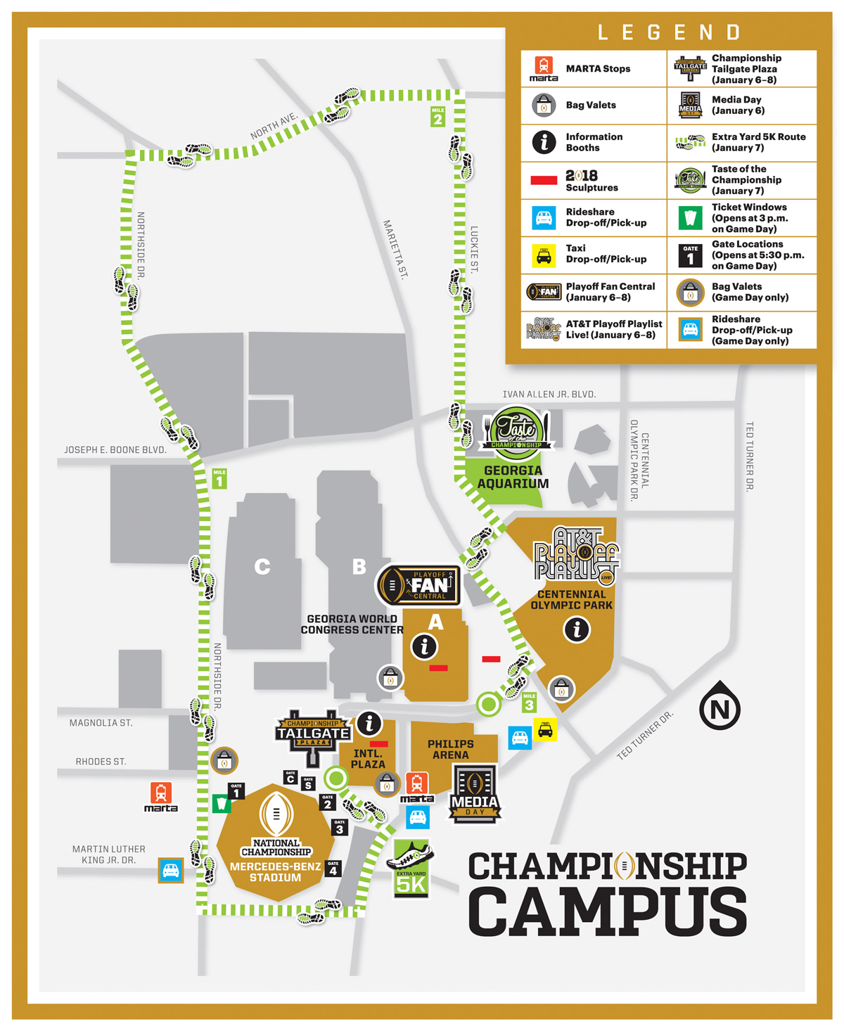 Know before you go atlanta championship game championship campus map gumiabroncs Image collections